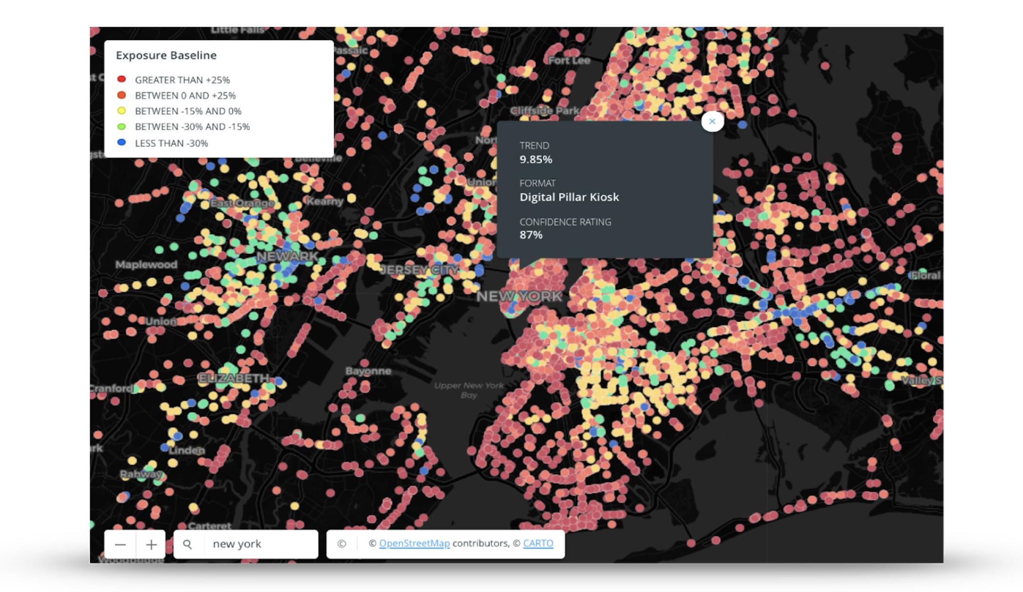 Baseline Exposire Map